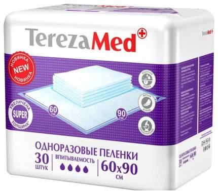 Пеленки одноразовые впитывающие TerezaMed Super 60х90 см, 30 шт.