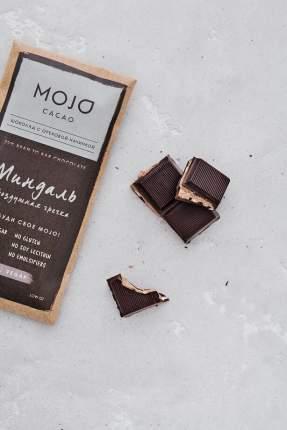 Горький шоколад 72% Mojo Cacao с шоколадно-ореховой пастой со вкусом миндаль
