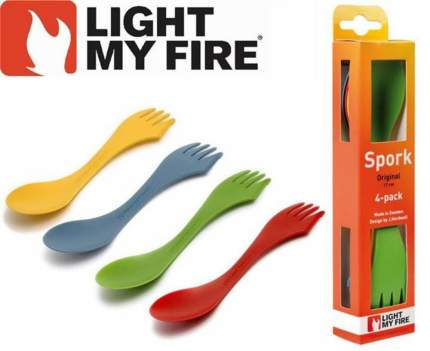 Ложка-вилка Light My Fire Spork Original 41249676 желтая