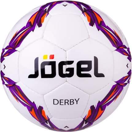 Футбольный мяч Jogel JS-560 Derby №4 white/violet
