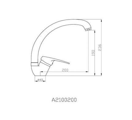 Смеситель для кухонной мойки Agger A2100200