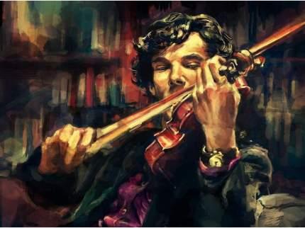 """Картина по номерам Paintboy """"Скрипка Шерлока"""", 40x50 см"""