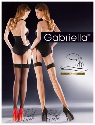 Чулки Gabriella Lido с контрастной стрелкой телесные с черным 1-2 размер