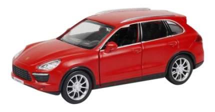 Машина металлическая Uni-Fortune 1:32 Porsche Cayenne Turbo инерционная красный матовый