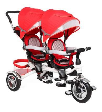 Велосипед трехколесный Capella для двойни Twin trike 360 Red