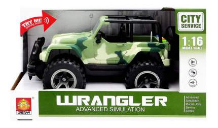 Внедорожник инерционный Weny! Jeep Wrangler зеленый 1:16
