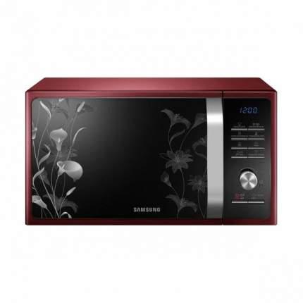 Микроволновая печь с грилем Samsung MG23F301TFR/BW red