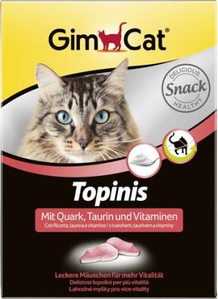 Лакомство для кошек GIMPET Topinis с таурином и творогом с ТГОС в виде мышек