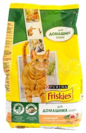 Сухой корм для кошек Friskies, для домашних, с курицей и садовой зеленью, 1,5кг