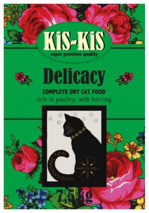 Сухой корм для кошек KiS-KiS Delicacy, ягненок, гусь, рыба, 7,5кг