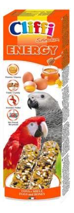 Лакомства для птиц Cliffi для крупных попугаев, палочки с яйцами и медом, 150г