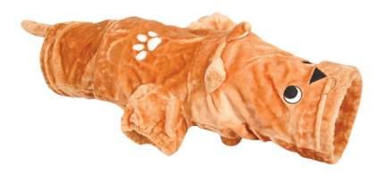 Тоннель для кошек Triol 25х100см с одним окном, оранжевый