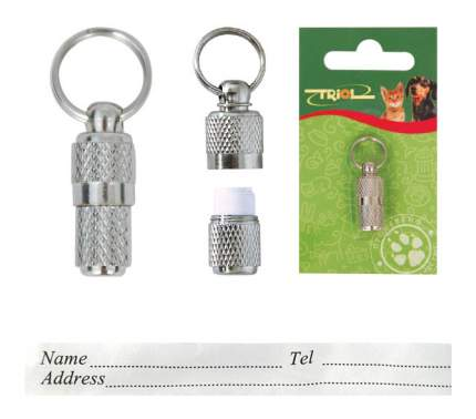 Адресник-капсула для кошек и собак Triol SH608, сталь, 3,5 см