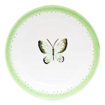 Тарелка FIORETTA Summer joy green 24 см