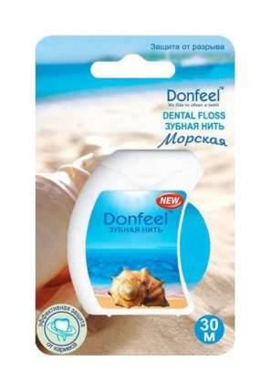 Зубная нить Donfeel Dental Floss Морская, 30 м
