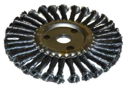 Щетка д/УШМ ф22,2/178мм дисковая сталь витая 51586