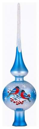 Верхушка для ели Елочка Снегири голубой C1538