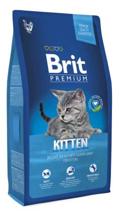 Сухой корм для котят Brit Premium, курица в лососевом соусе, 0,8кг