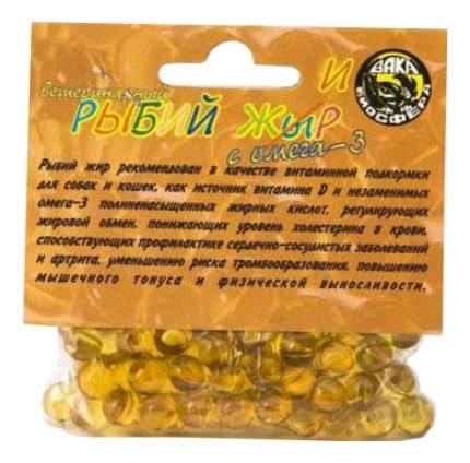 Пищевая добавка для собак, для кошек Вака Ветеринарный рыбий жир, +Омега-3 100 таб