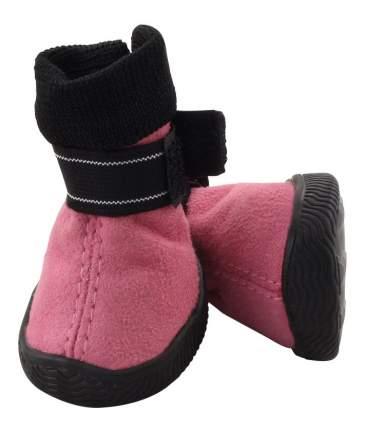 Обувь для собак Triol размер M, 2 шт черный, розовый
