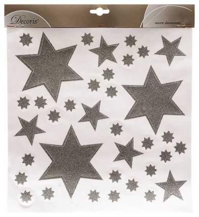 Наклейки новогодние Kaemingk Звезды 461017 Серебристый