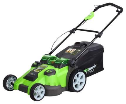 Аккумуляторная газонокосилка GreenWorks Twin Force G40LM49DB-SET 2500207VB