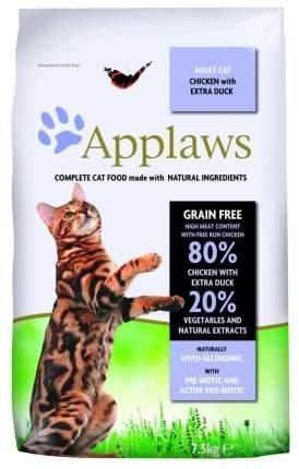 Сухой корм для кошек Applaws, беззерновой, курица, утка, овощи, 7,5кг