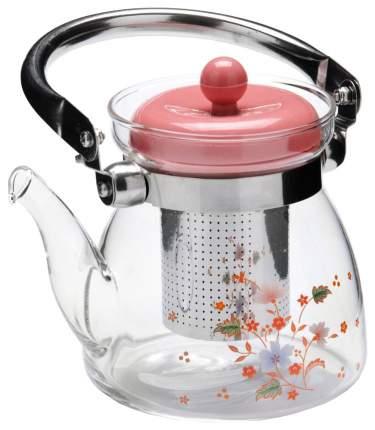 Заварочный чайник Mayer&Boch MB-26961 Прозрачный, серебристый, розовый