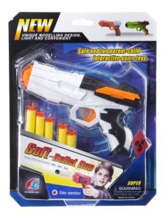 Пистолет игрушечный Soft Bullet Gun с 5 мягкими пулями Gratwest К81682