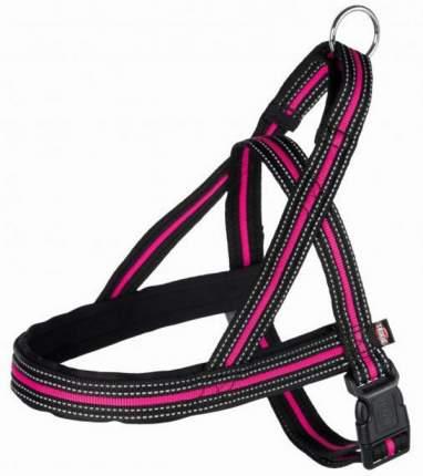 Шлейка для собак Trixie Fusion Norwegian XXL, черный / розовый