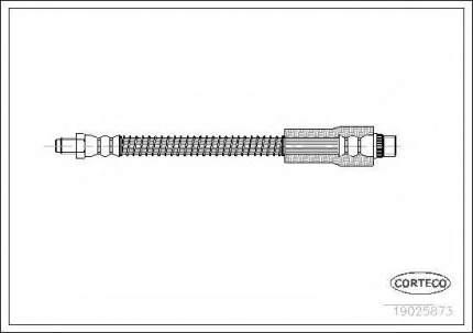 Шланг тормозной Corteco 19025873