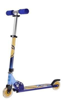 Самокат двухколёсный X-Match Cool Cat 100 мм Сине-Желтый 641097