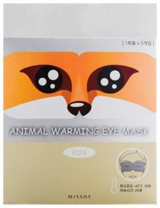 Маска для глаз Missha Animal Warming Eye Mask Fox (Аромат ромашки) 20 гр