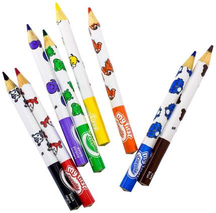 8 толстых карандашей для малышей
