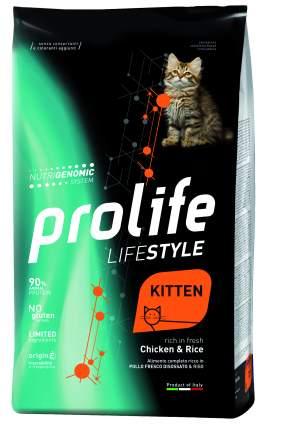 Сухой корм для котят Prolife Lifestyle Kitten, курица и рис, 1,5кг
