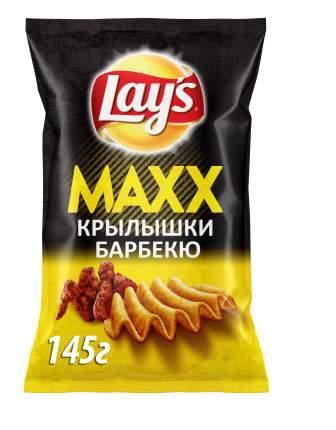 Картофельные чипсы Lay's maxx куриные крылышки барбекю 145 г