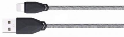 кабель lightning, 2.1A, 1м., пластик/текстиль, серый, CL-981-GRY, AWEI