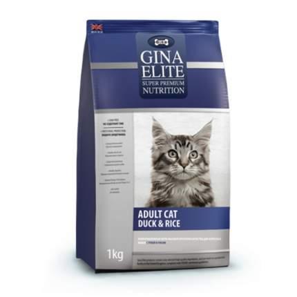 Сухой корм для кошек GINA ELITE CAT, утка с рисом, 1кг