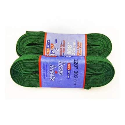 Шнурки для коньков Tex Style W921 зеленые, 2,44 м