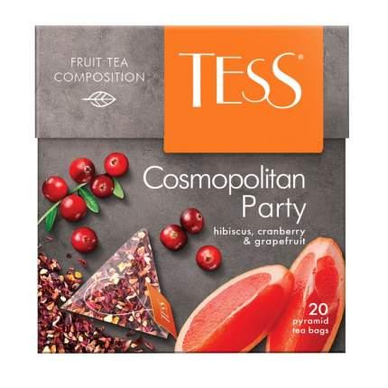 Чай черный Tess cosmopolitan party в пирамидках фруктовый ягодный 20 пакетиков