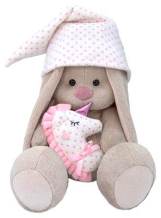 Мягкая игрушка BUDI BASA Зайка Ми с розовой подушкой - единорогом, 18 см