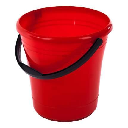 Ведро пластиковое с ручкой, 12 л, цвет красный ЭЛЛАСТИК-ПЛАСТ