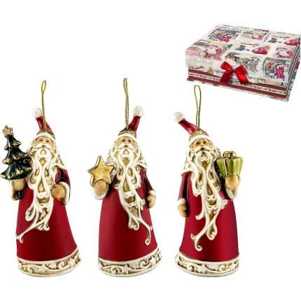 Набор елочных игрушек Mister Christmas керамика красный 3 шт 12,5 см
