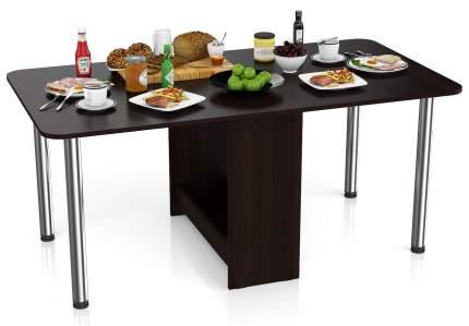 Стол-книжка обеденный Мебельный Двор СО-04 венге 170х90х74 см., сложенный 34х90х74 см.