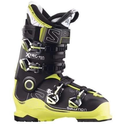 Горнолыжные ботинки Salomon X Pro 110 2018, black/acid green/anthracite, 25.5
