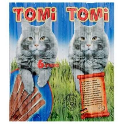 Лакомство Tomi палочки с лососем и форелью для кошек (6 шт, Лосось с форелью)