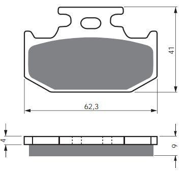 Тормозные колодки GoldFren 001 S33