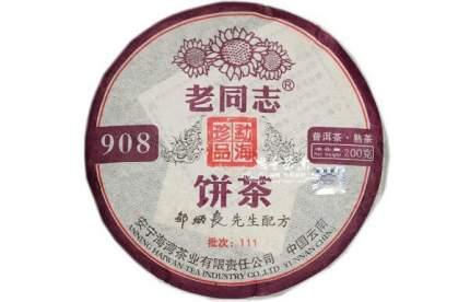 Чай пуэр Чайный лист 908 шу блин 200 г