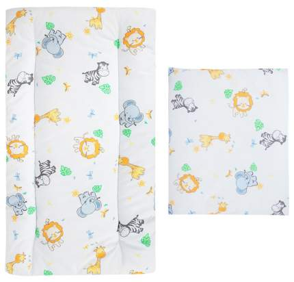 Комплект в коляску (матрасик+подушка) Leader Kids «Африка» GL000603605, бязь, Оранжевый