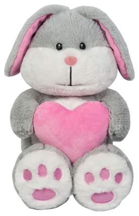 Мягкая игрушка Maxitoys Зайка Серый с Сердцем 23 см MT-SUT061712-23